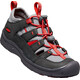 Keen Hikeport Vent Shoes Youth Raven/Firey Red